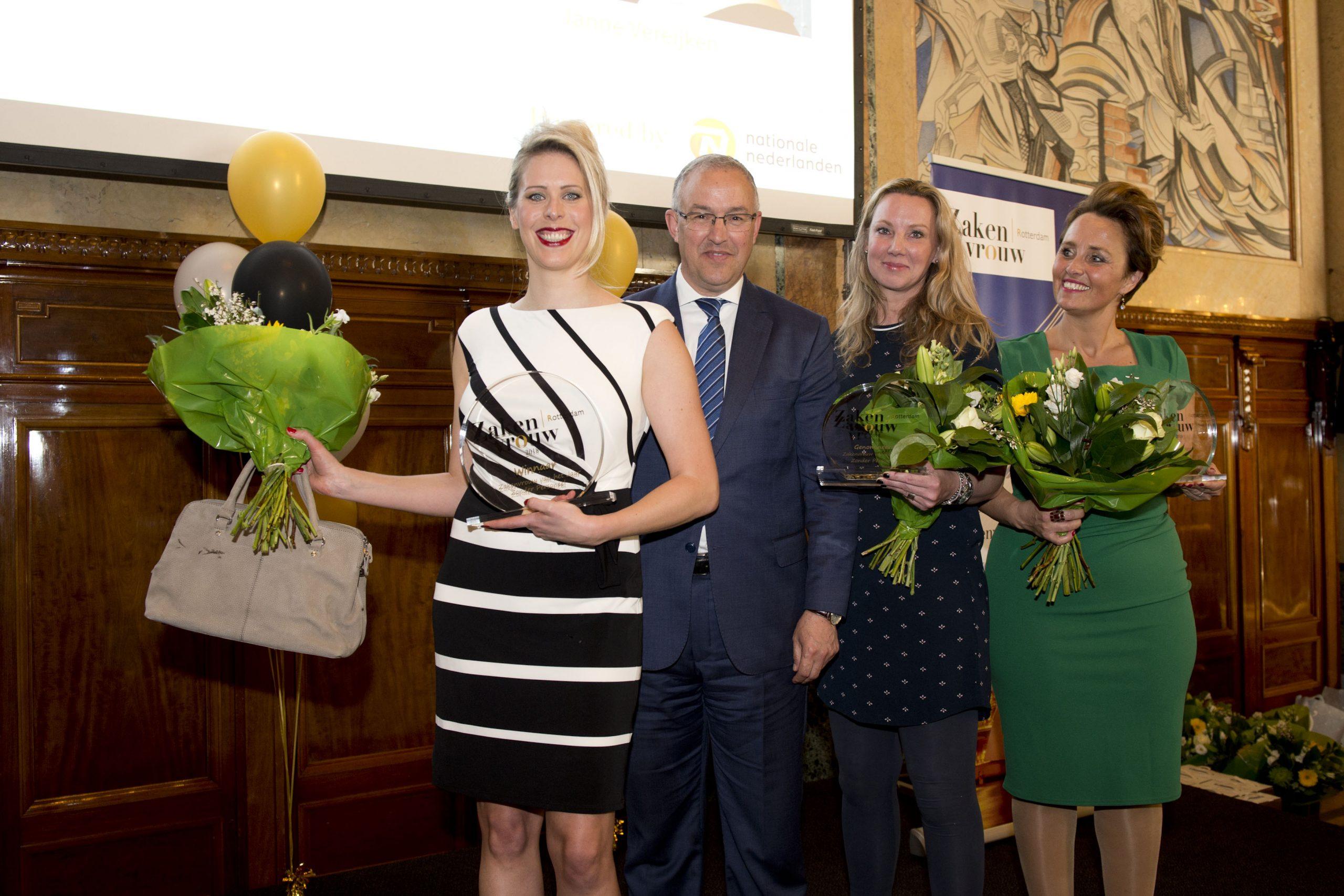 Janne Vereijken Burgemeester Ahmed Aboutaleb Rotterdamse Zakenvrouw van het Jaar 2018