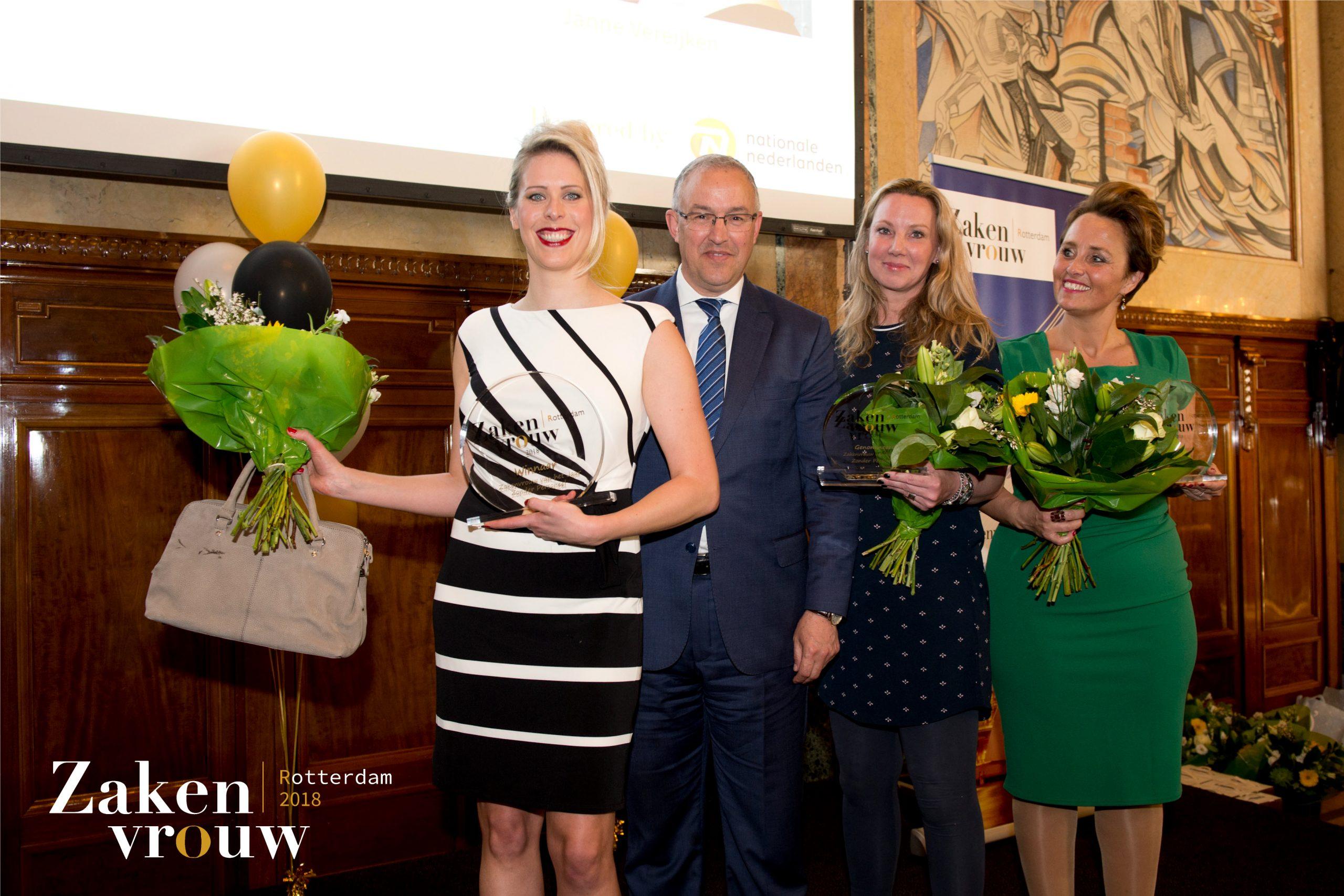 Janne Vereijken Rotterdamse Zakenvrouw van het Jaar Burgemeester Ahmed Aboutaleb